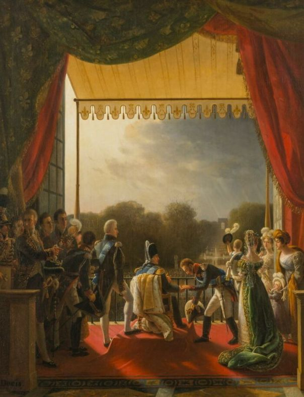 Louis XVIII Witnesses The Return Of The Spanish Army From The Tuileries, December 2, 1823 By Ducis, Louis (1823 - 1824)