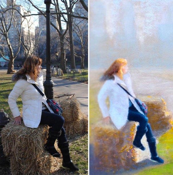 Self-Portrait At The Central Park