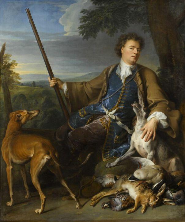 Portrait Of The Artist As A Hunter By Desportes, Alexandre-François (1699)