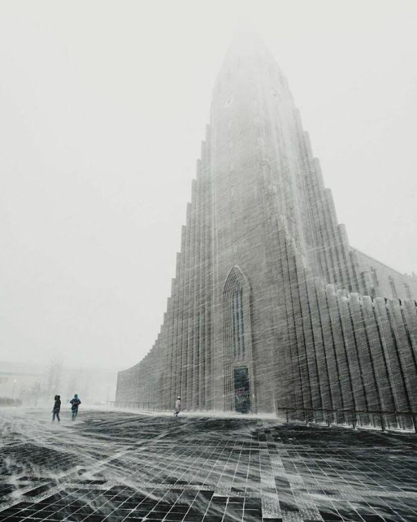 Winter Has Come In Iceland. Hallgrímskirkja In Reykjavík. Photo By Gunnar Freyr