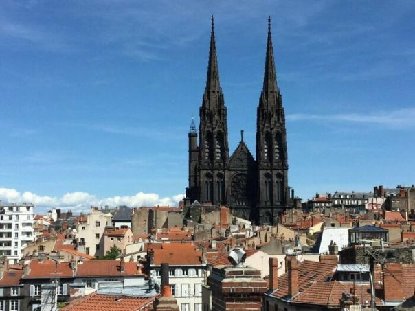 Clermont-Ferrand Cathedral In France - Built Entirely Of Black Lava Stone