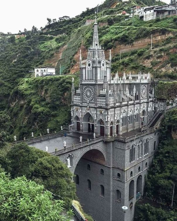 The National Shrine Basilica Of Our Lady Of Las Lajas In Nariño, Columbia