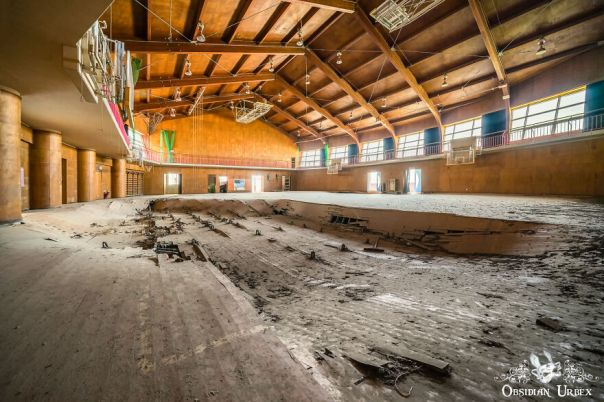 The School Stands Only A Few Hundred Meters From The Sea Front. The Floor Of The Sports Hall Has Collapsed In The Decade Since It Was Abandoned