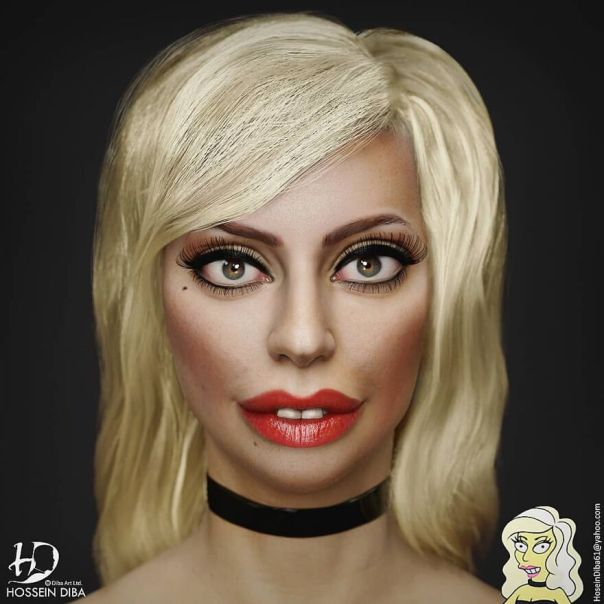 Lady Gaga From The Simpsons
