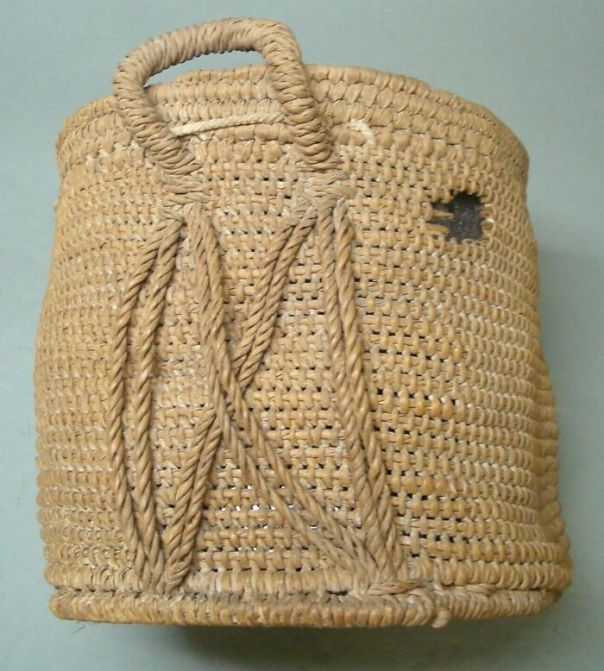 Basket (Interior Reinforced By A Frame (1 Metal Circle And A Rod))