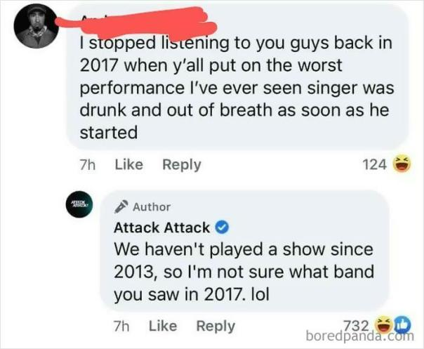 Guy Doesn't Even Know What Band He Saw