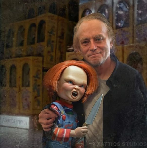 "Chucky And Brad Dourif From ""Child's Play"""