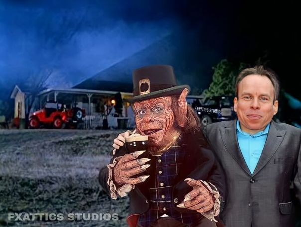 "Leprechaun And Warwick Davis From ""Leprechaun"""