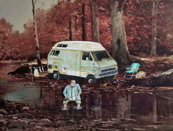 Second Version Of Living In A Van Down By The River...commission Piece