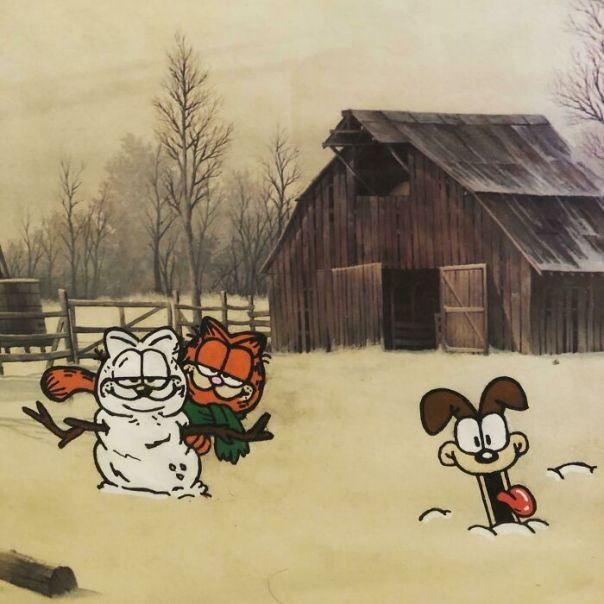 I Can't Believe It's December Now, So Here's Garfield And Odie Having Some Fun In The Snow