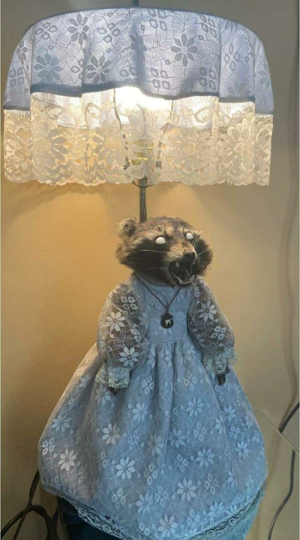 This Taxidermy Lamp