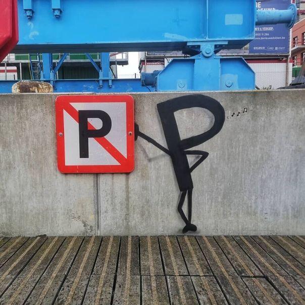 Fuck The Pystem #fuck #p #trafficsign #fuckthesystem #rebel #art #streetart #norule #oakoak #urbanart #urbanintervention #gent #gand #belgium #streetartbelgium #myrules #rebelle #sign #art #stencilart
