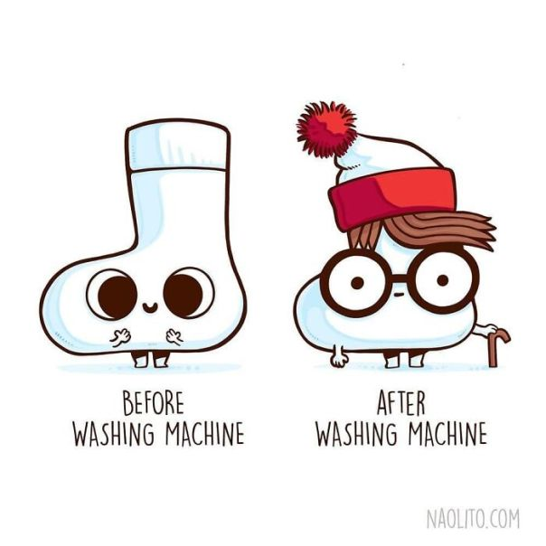 Where Are My Lost Socks!! 😂 #lost #lostsocks #beforeandafter #cute #funny #comicstrip #comic #illustration #illustrator #indieart #illustrationseries #series #aww #awww #awesome #washingmachine #waldo #wally