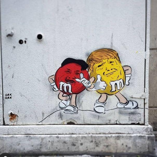 The 2 Bro... #mtn94 #streetart #oakoak #urban #trump #street #art #bro #friend #mms #fun #news