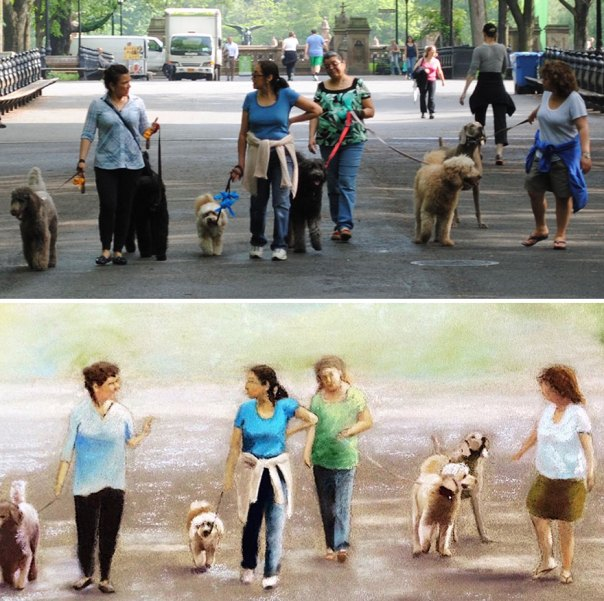 Dog Walkers In Central Park At 8 Am