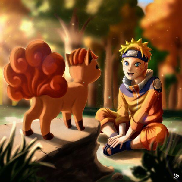 Naruto And Vulpix