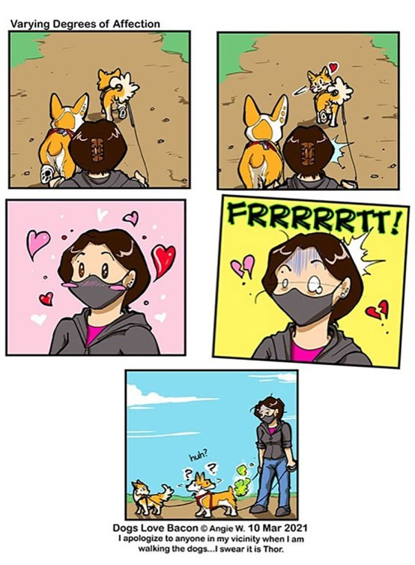 I Started A Happy Dog Comic Around My Two Rescue Dogs!