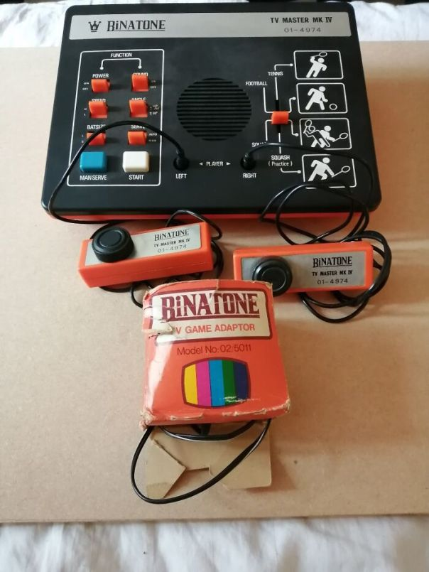 A 1977 Binatone Pong Games Console. One Of The First Home Consoles