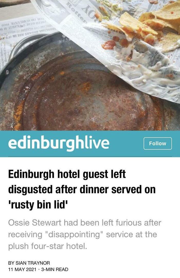 Nachos On A Rusty Bin Lid
