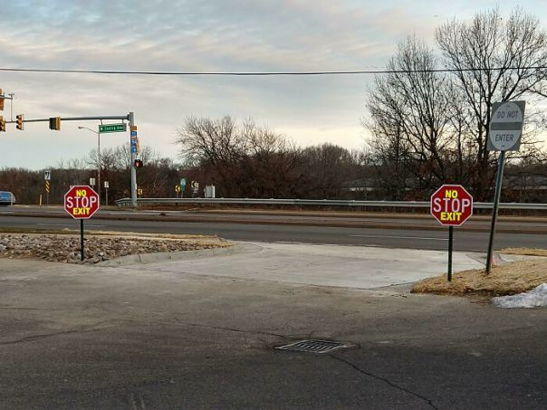 I Love The New No Stop Exit They Put Up At Our Corner Gas Station, You Don't Even Have To Stop To Exit