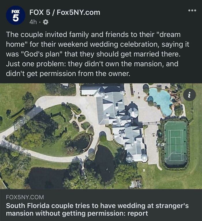 Let Me Not Ask For Permission To Have My Wedding Here (God's Plan)