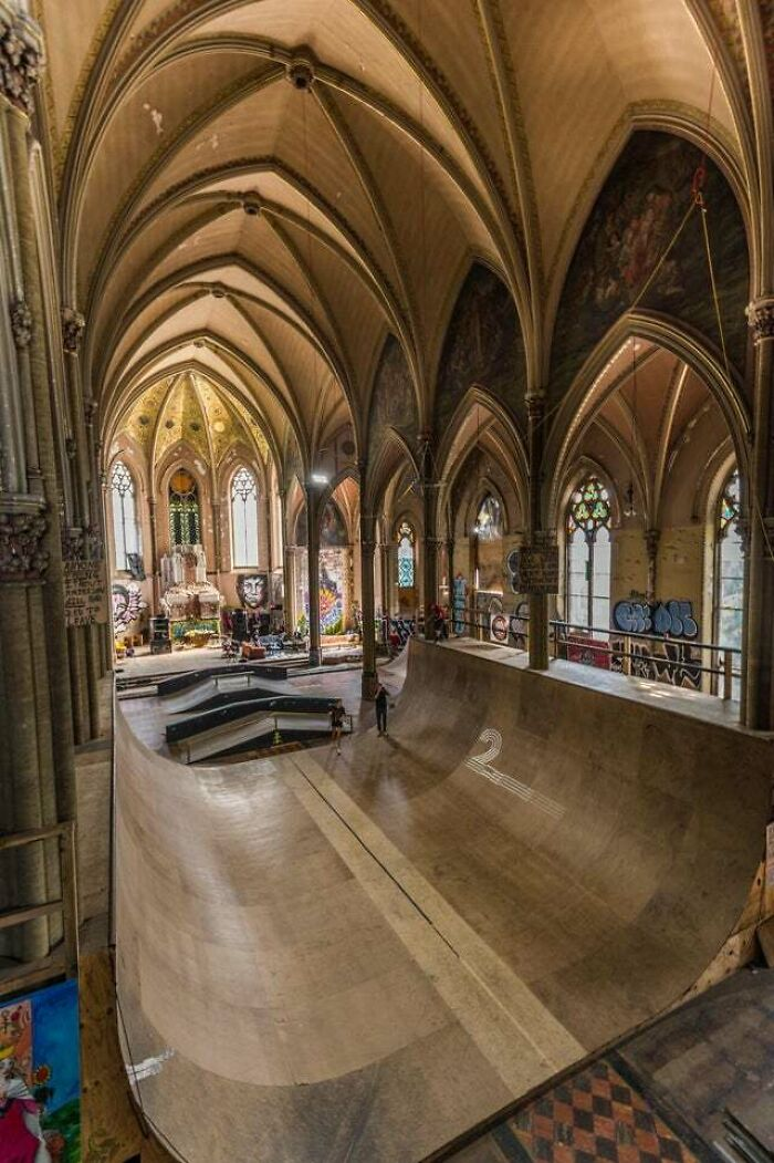 This Abandoned Church Was Purchased By Skaters And Renovated Into A Dream Park