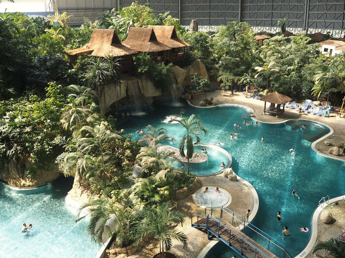In Germany There Is Waterpark Called Tropical Islands. It's A Literal Tropical Island Built Inside An Old Blimp Hangar