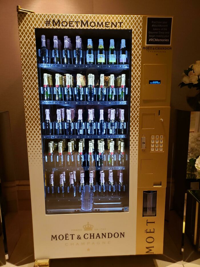 The Hotel I Am Staying At Has A Vending Machine Strictly For Champagne
