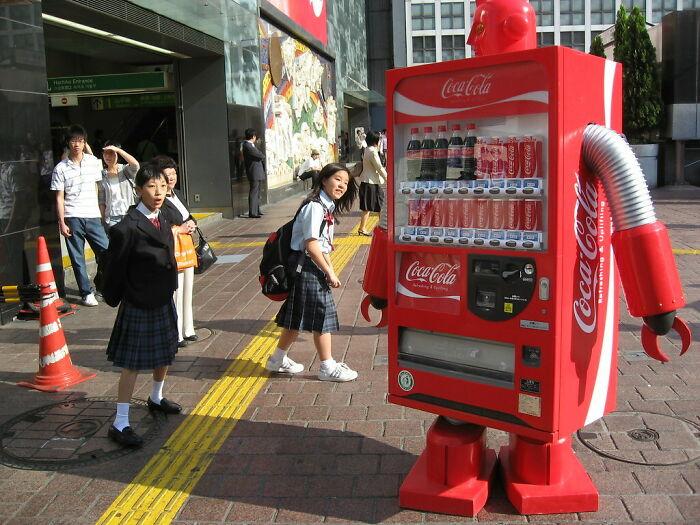 Walking Japanese Robot Vending Machine