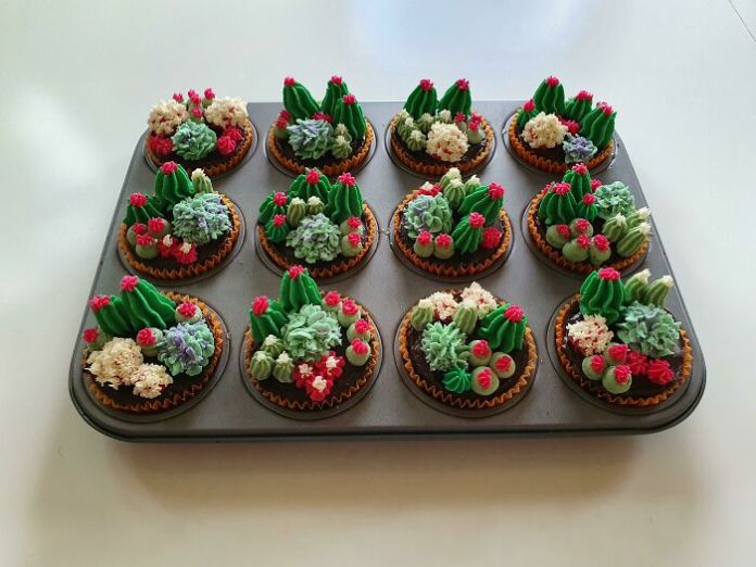 Homemade Cactus Cupcakes