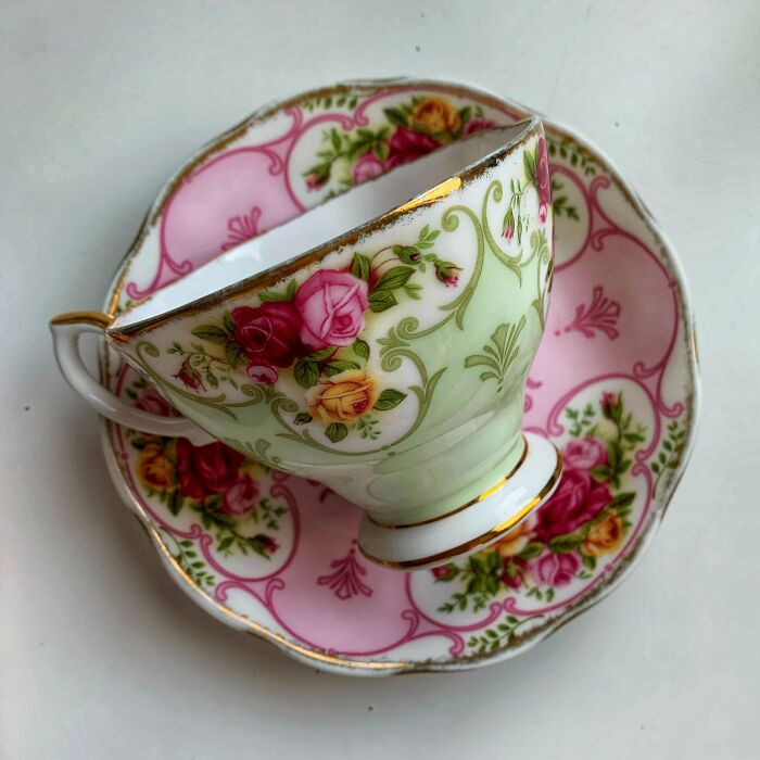 Last Summer I Found 2 China Teacups, And Last Night I Found The Matching Saucers In A Different City!