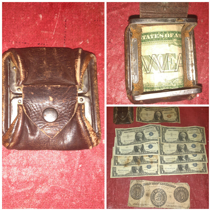 Okay I Know I've Said This Before And I Know I'll Probably Say This Again, But I Think I Just Made My Best Find. Found A Little Money Pouch With A Bunch Of Old Money In It