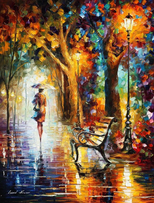 Fusion Of Colors In Leonid Afremov Nostalgic Oil