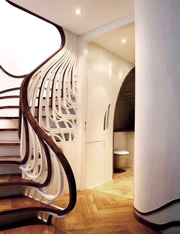 25 Unique And Creative Staircase Designs Bored Panda | House Interior Steps Design | Living Room | White | Architecture | Small | Low Cost