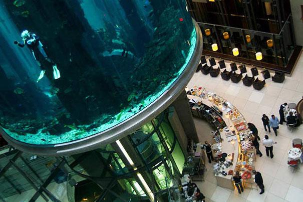 Aquadom Aquarium Radisson Blu Hotel Berlin