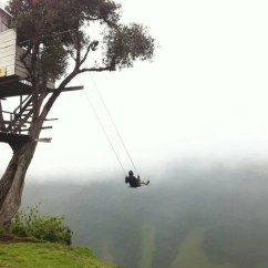 Swing Chair Over Canyon Verte Ergonomic #22011 The At End Of World Lets You 2 600 Meters Above Sea Level