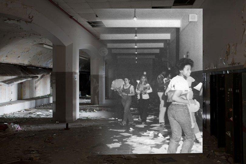 then and now abandoned school in detroit 9 - Fotos de uma escola abandonada em Detroit (antes e depois)
