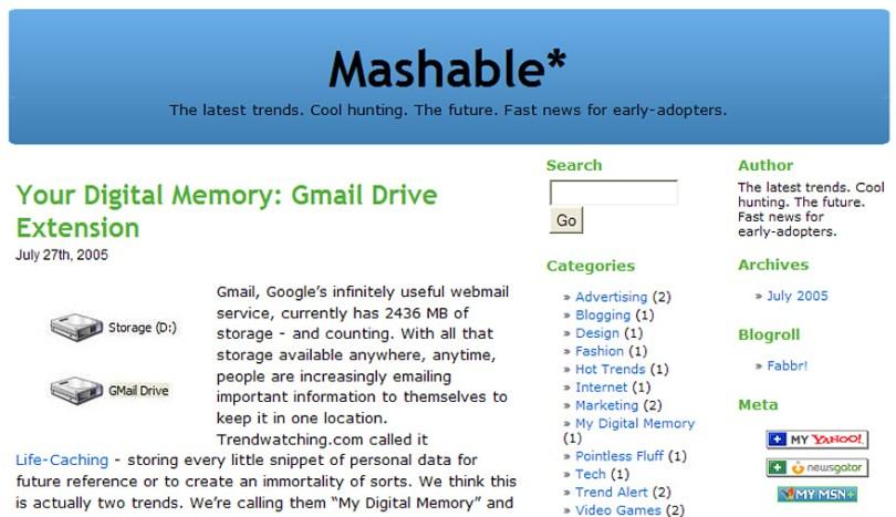 worlds biggest sites at launch wayback machine 9 - Como era a página principal dos grandes sites em seu início?