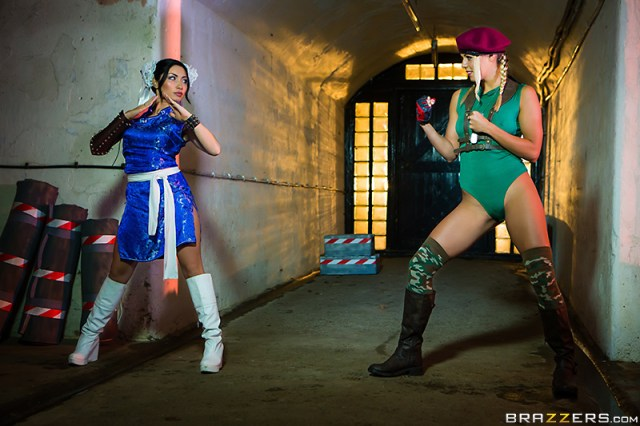 Christen Courtney, Rina Ellis - Brazzers - Hot And Mean - Sex Fighter: Chun Li vs. Cammy (XXX Parody)