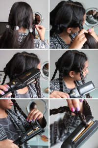 Beauty Hack! Flat Iron Your Braids to Make Waves | Brit + Co