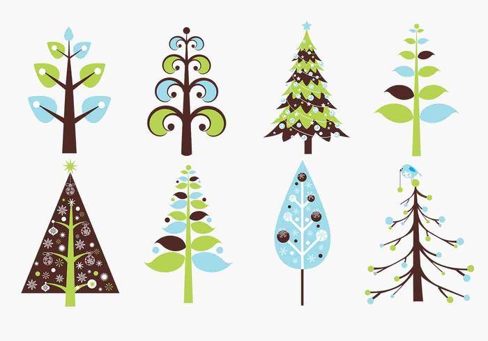 Retro Christmas Tree Brush Pack Free Photoshop Brushes