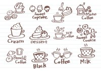 Coffee Doodle Brushes Pack - Free Photoshop Brushes at ...