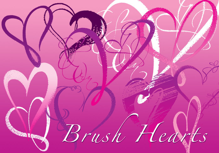 brush hearts free photoshop