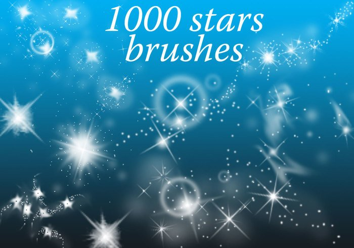 1000 stars free photoshop