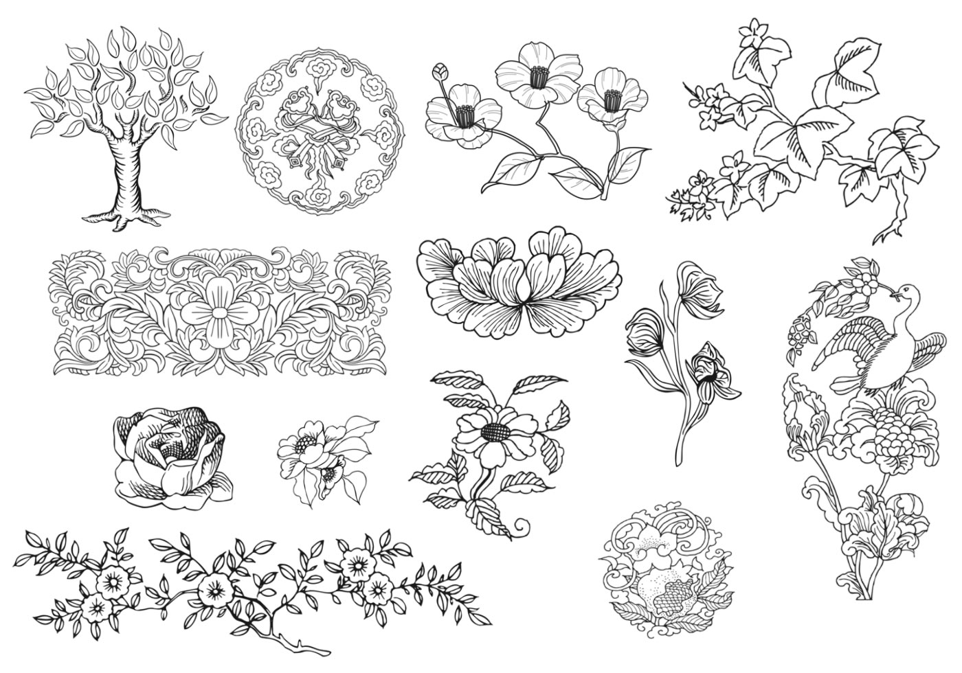 Dekorative Ornamente Sammlung