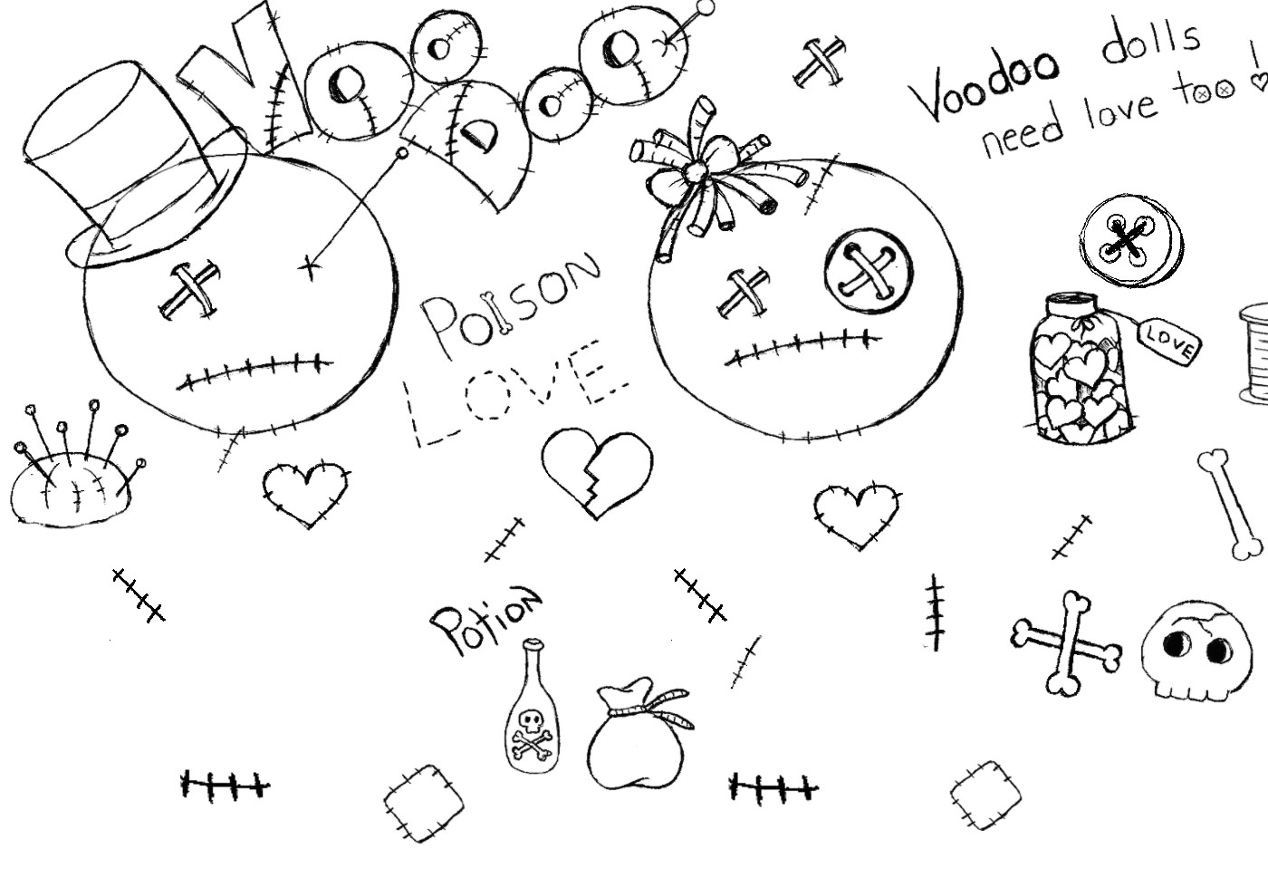 Free Voodoo Doll Brushes
