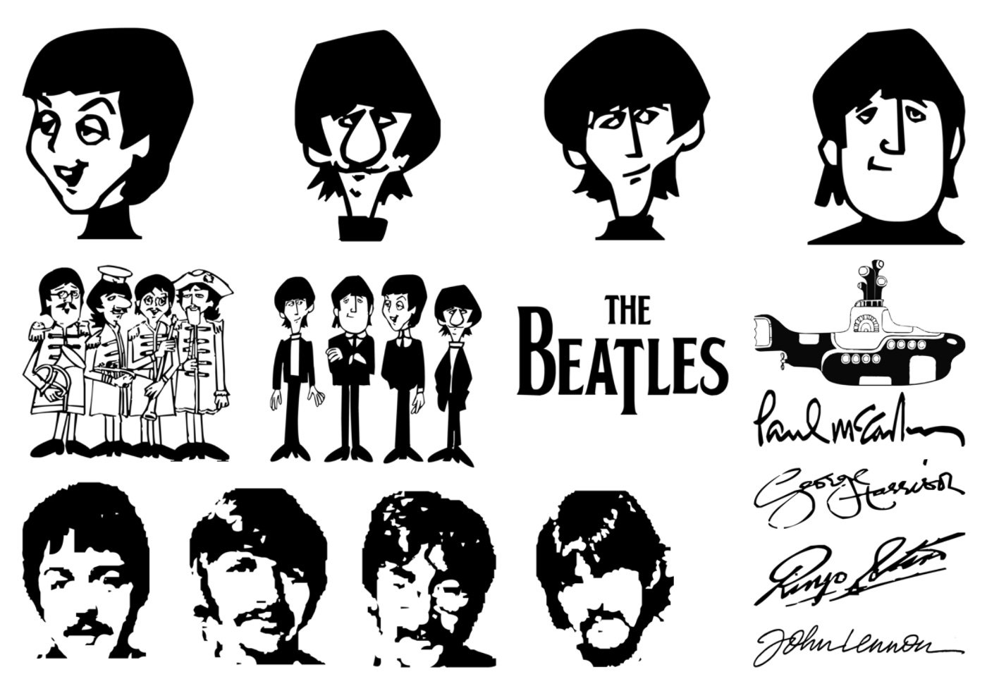 Free The Beatles Brushes