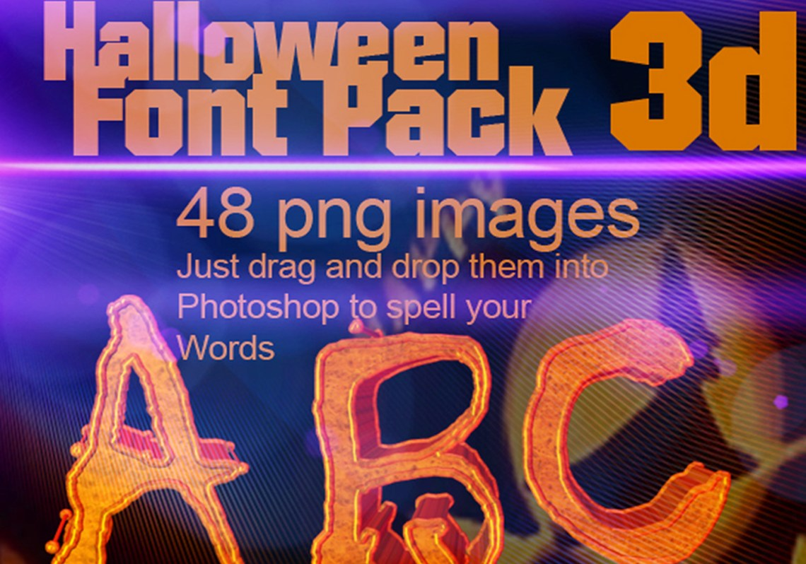 Download Free 3d Halloween Font PSD Pack