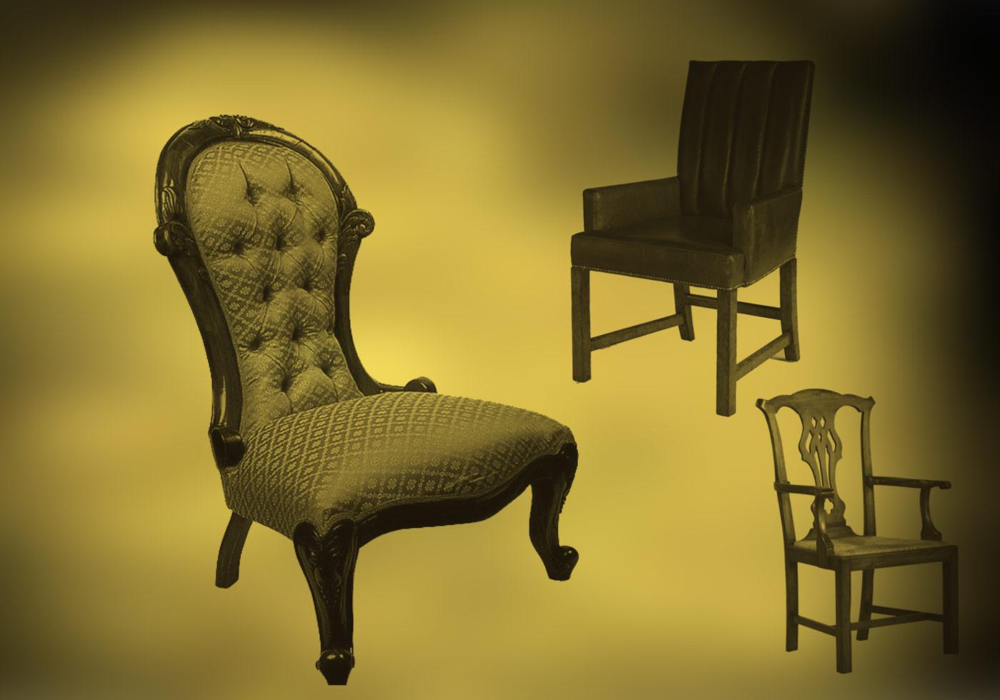 Vintage Chairs Brush Set  Free Photoshop Brushes at