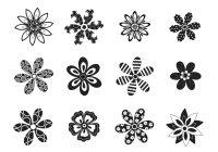Decorative Black and White Flower Brushes - Free Photoshop ...